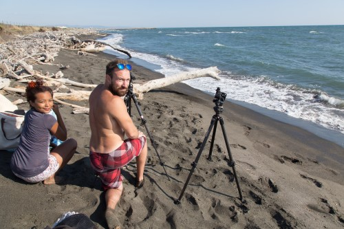 Art Photography Photo shooting preparation on an isolated beach