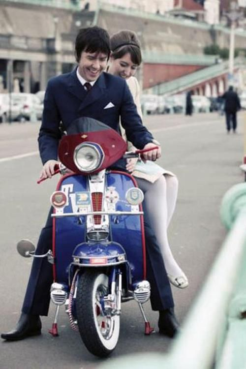Mods, mid-sixties scooter