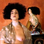 Klimtomania 2006 based on Gustav Klimt's Judith, I & II by Klimt. Can you identify the head on the shopping bag?