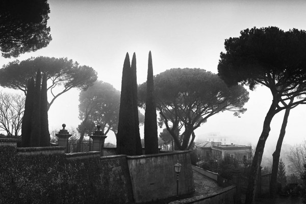 Castel Gandolfo in the fog