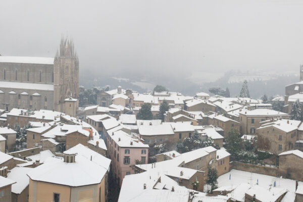 Orvieto Cathedral Under Snow