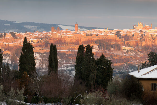 Orvieto Snow Scene